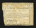Colonial Notes:North Carolina, North Carolina May 10, 1780 $300 Aut Numquam Tentes AutPerfice Fine-Very Fine.. ...
