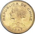 Chile, Chile: Republic gold 100 Pesos 1947,...