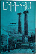 Books:Signed Editions, Jack Vance. Emphyrio. Garden City: Doubleday & Company,1969. First edition. Signed by the author. Review slip l...