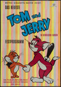 "Movie Posters:Animated, Tom and Jerry Stock (MGM, 1952). German A1 (23.5"" X 33""). Animated.. ..."