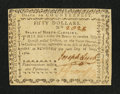 Colonial Notes:North Carolina, North Carolina May 10, 1780 $50 Fundamentum Mihi AerePerennius Very Fine.. ...