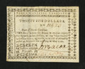 Colonial Notes:North Carolina, North Carolina May 10, 1780 $25 Justitia Addit FiduciamExtremely Fine.. ...