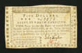 Colonial Notes:North Carolina, North Carolina May 15, 1779 $5 Be Freedom and Independence SteadilyPursued Fine-Very Fine.. ...