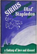 Books:First Editions, Olaf Stapledon. Sirius. London: Secker & Warburg, 1944.First edition, first printing. Octavo. 200 pages. Publisher'...