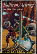 Books:First Editions, Erik Van Lhin. Battle on Mercury. Philadelphia: Winston,[1953]. First edition, first printing. Octavo. 207 pages. P...