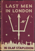 Books:First Editions, W. Olaf Stapledon. Last Men in London. London: Methuen &Co., [1932]. First edition. Octavo. 312 pages. Eight pages ...