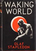 Books:First Editions, Olaf Stapledon. Waking World. London: Methuen, [1934]. Firstedition, first printing. Octavo. 280 pages. Publish...