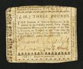 Colonial Notes:North Carolina, North Carolina December, 1768 £3 Very Fine.. ...