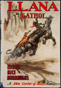 Books:First Editions, Edgar Rice Burroughs. Llana of Gathol. Tarzana: Edgar Rice Burroughs, [1948]. First edition. Octavo. 317 pages. Publ...
