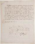 Autographs:U.S. Presidents, Thomas Jefferson Autograph Letter Signed and Free Franked...