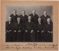 Autographs:U.S. Presidents, William H. Taft Supreme Court Photograph Signed by All Nine Justices...