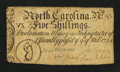 Colonial Notes:North Carolina, North Carolina March 9, 1754 5s Fine-Very Fine.. ...