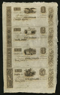 Obsoletes By State:Ohio, Elyria, OH- (Herman Ely) $1-$2-$3-$5 Uncut Sheet. ...