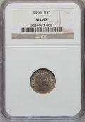 Barber Dimes: , 1910 10C MS62 NGC. NGC Census: (49/294). PCGS Population (59/318).Mintage: 11,520,551. Numismedia Wsl. Price for problem f...