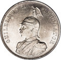 German East Africa: , German East Africa: Wilhelm II 2 Rupien 1893, KM5, fully lustrous UNC with a touch of russet patina and moderately abraded surfaces with one min...