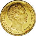 German States:Bavaria, German States: Bavaria. Maximilian II Rhine gold Ducat 1850, Bustleft/River and city view with date below in Roman numerals, KM462,F-278,...
