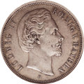 German States:Bavaria, German States: Bavaria. Ludwig II 5 Mark 1875D, KM502. XF45 NGC.Well struck with medium gray toning....