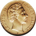 German States:Bavaria, German States: Ludwig II gold 10 Marks 1872D, F-3764, KM500, MS63NGC. Brilliant, with reflective fields and light marks on Ludwig'sface....