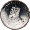 German States:Bavaria, German States: Bavaria. Prince Regent Luitpold silver medal 1904,by A. Borsch, commemorating the building of the Army museum inMunich, Bu...