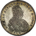 German States:East Friesland, German States: East Friesland. Georg Albrecht 1/6 Taler 1730ICG,KM177, Kny-6597, XF. A rare, one-year type that seldom appears thisnice....