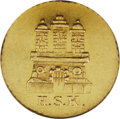 German States:Hamburg, German States: Hamburg. Free City gold 1 Schilling 1840HSK, type of KM251.2, J-45 type, MS61 NGC. A very scarce gold striking with moderate...