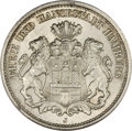 German States:Hamburg, German States: Hamburg. Free City 2 Mark 1888J, KM290, MS63 NGC. Brilliant white with light abrasions and exceptional appearance for the gr...