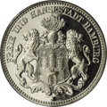German States:Hamburg, German States: Hamburg. Free City 2 Mark 1912J, KM294, Proof 64 Cameo PCGS. Exceptional appearance for the grade with stunning cameo and sn...
