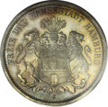 German States:Hamburg, German States: Hamburg. Free City 3 Mark 1912J, KM296, Proof 66 PCGS. A flawless strike with outstanding greenish-gold toning with blue hig...