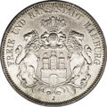 German States:Hamburg, German States: Hamburg. Free City 5 Mark 1876J, KM287, lustrous AU. The first type of Hamburg 5 Mark and very scarce in AU and finer condit...