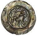 German States:Hesse-Cassel, German States: Hesse. Hermann II of Thuringia Brakteat Pfennig ND(1227-1242), Armored knight on horseback left holding banner,Cavalry cro...