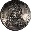 German States:Hesse-Cassel, German States: Hesse-Cassel. Friedrich I of Sweden Taler 1733LR,KM418, Dav-2294, lustrous XF-AU with minor flan flaws on bothsides. One o...