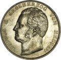 German States:Hesse-Darmstadt, German States: Hesse-Darmstadt. Ludwig II 2 Taler 1844, KM320, Dav-703, fully lustrous, Choice AU-UNC. The surfaces are scuffed from misha...
