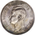 German States:Hesse-Darmstadt, German States: Hesse-Darmstadt. Ernst Ludwig Proof 5 Mark 1898A,KM369, Proof 65 NGC. Superb, iridescent lilac, purple, and goldtoning wit...