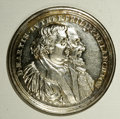 German States:Nurnberg, German States: Nurnberg. Augsburg Confession Bi-centennial silver medal 1730, Conjoined busts of Martin Luther and Philipp Malanchthon righ...