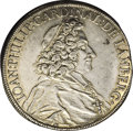 German States:Passau, German States: Passau. Johann Philipp Taler 1701/71, Dav-2517,cleaned, with XF details and shaved edges with evidence of mountremoval at ...
