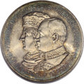 German States:Saxony, German States: Saxony. Friedrich August III 5 Mark 1909, on the 500th Anniversary of Leipzig University, KM1269, MS65 NGC. Lustrous with at...