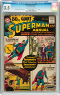 Silver Age (1956-1969):Superhero, 80 Page Giant #1 Superman (DC, 1964) CGC VG- 3.5 Cream to off-white pages....