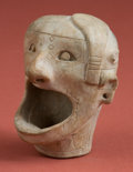 Antiques:Antiquities, Chavin Miniature Bowl in Form of Human Face...