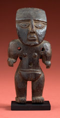 Antiques:Antiquities, Huari Wood Pendant of a Lord...