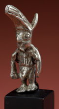 Antiques:Antiquities, Inca Silver Shaman Figure...
