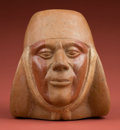 Antiques:Antiquities, Mochica IV Realistic Portrait Vessel...
