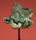 Antiques:Antiquities, Mochica Loma Negra Copper Ceremonial Mace Head in Form of aScorpion Deity...
