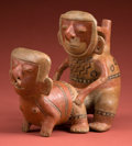 Antiques:Antiquities, Marvelous Early Chorrera Erotic Stirrup Vessel...