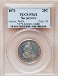 Proof Seated Quarters: , 1873 25C No Arrows PR62 PCGS. PCGS Population (30/103). NGC Census:(13/119). Mintage: 600. Numismedia Wsl. Price for probl...