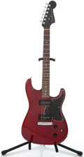 Musical Instruments:Electric Guitars, 2003 Fender Stratosonic Cherry Mahogany Solid Body Electric Guitar#Z3001216...