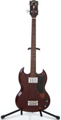 Musical Instruments:Bass Guitars, 1969 Gibson EB-0 Cherry Electric Bass Guitar #845734...