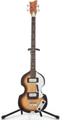 Musical Instruments:Bass Guitars, 1960's Hofner Copy Sunburst Electric Bass Guitar ...