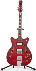 Musical Instruments:Electric Guitars, 1960's Baldwin Copy Red Semi-Hollow Body Electric Guitar ...