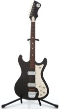 Musical Instruments:Electric Guitars, 1960's Kay Truetone Black Solid Body Electric Guitar ...