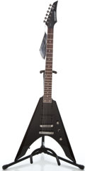 Musical Instruments:Electric Guitars, Recent Fernandes Vortex Black Solid Body Electric Guitar#FG08080350...